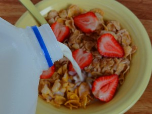 Cereal With Strawberries1
